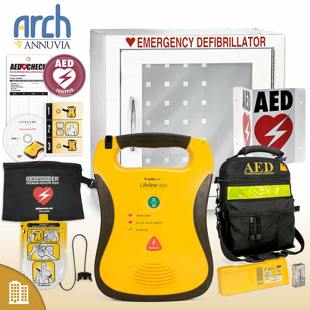 Defibtech Lifeline AED Corporate Value Package Basic Cabinet
