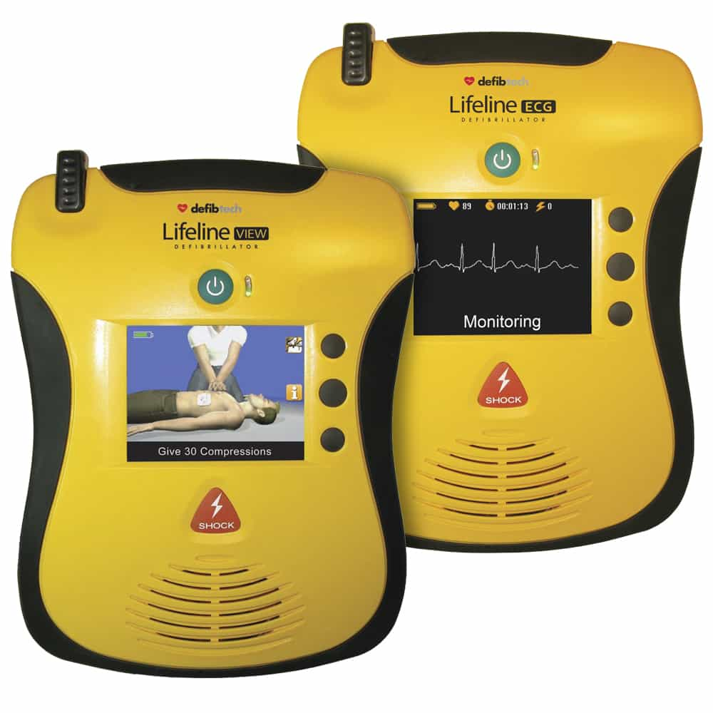 Defibtech Lifeline VIEW & ECG AEDs