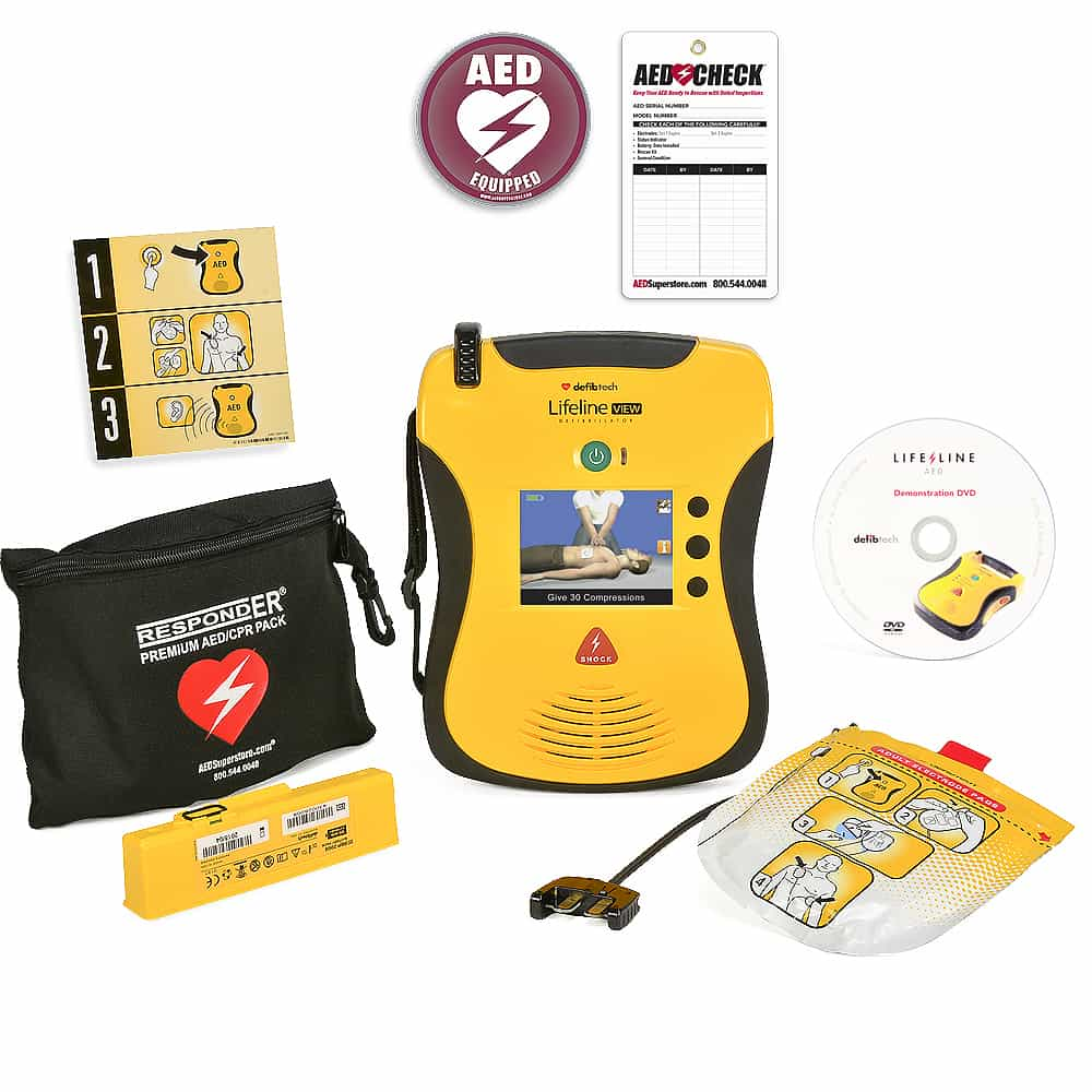 Defibtech Lifeline View w/Included Items (Carry Case NOT Included)