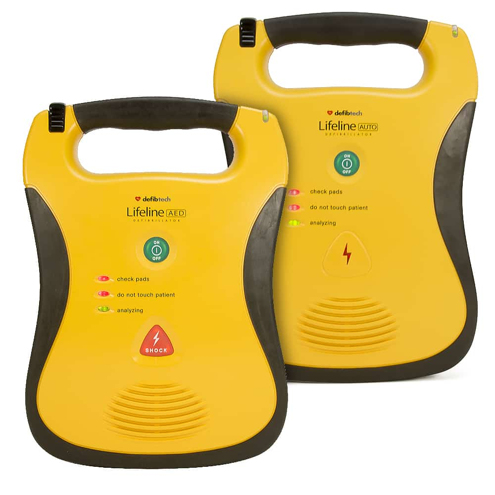 Defibtech Lifeline Semi-Automatic and Automatic Front View