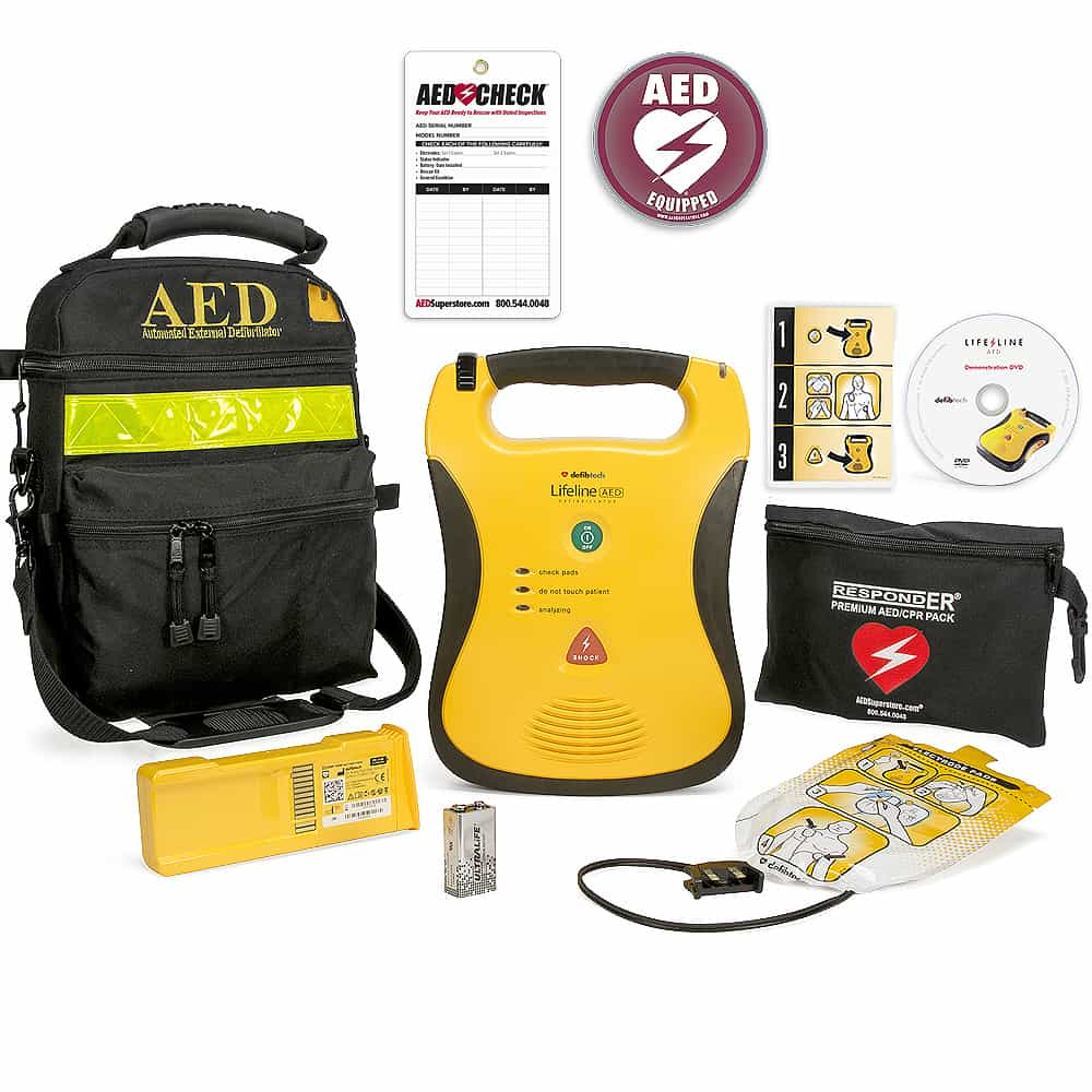 Defibtech Lifeline Semi-Automatic w/Included Items