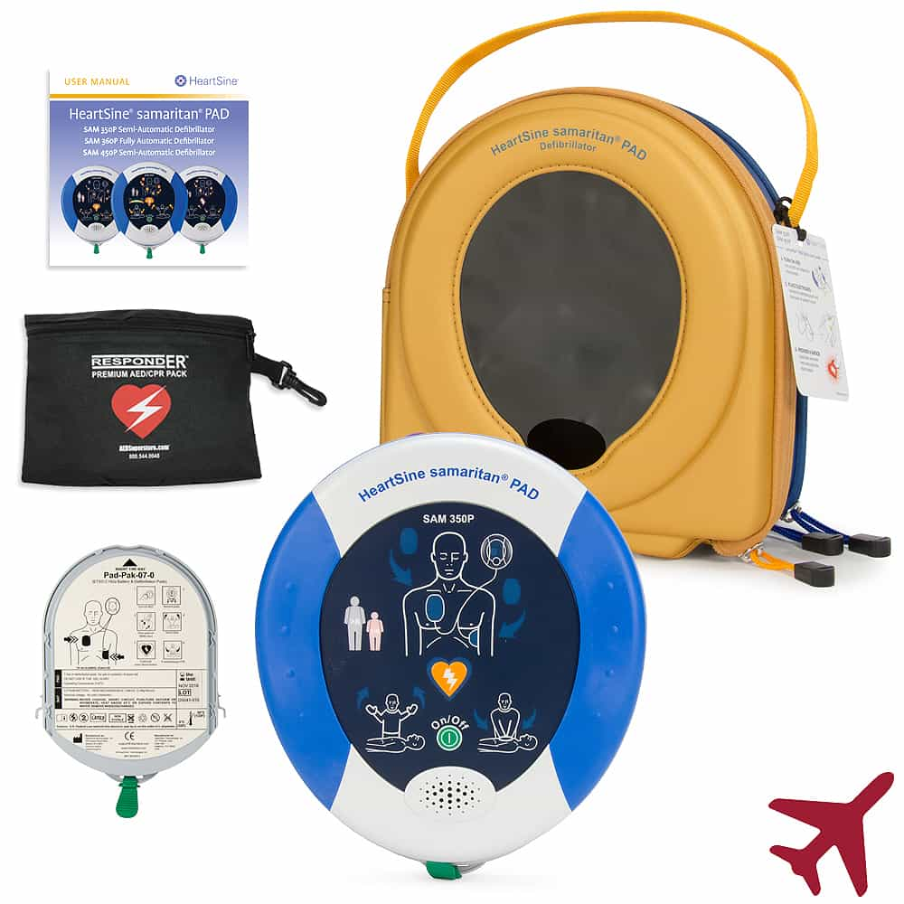 HeartSine samaritan PAD 350P/360P for Aviation (TSO-C142a)