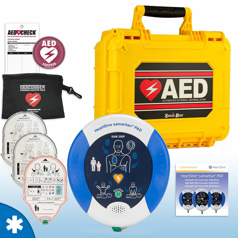 HeartSine Samaritan PAD AED Mobile Responder Value Package Semi Automatic