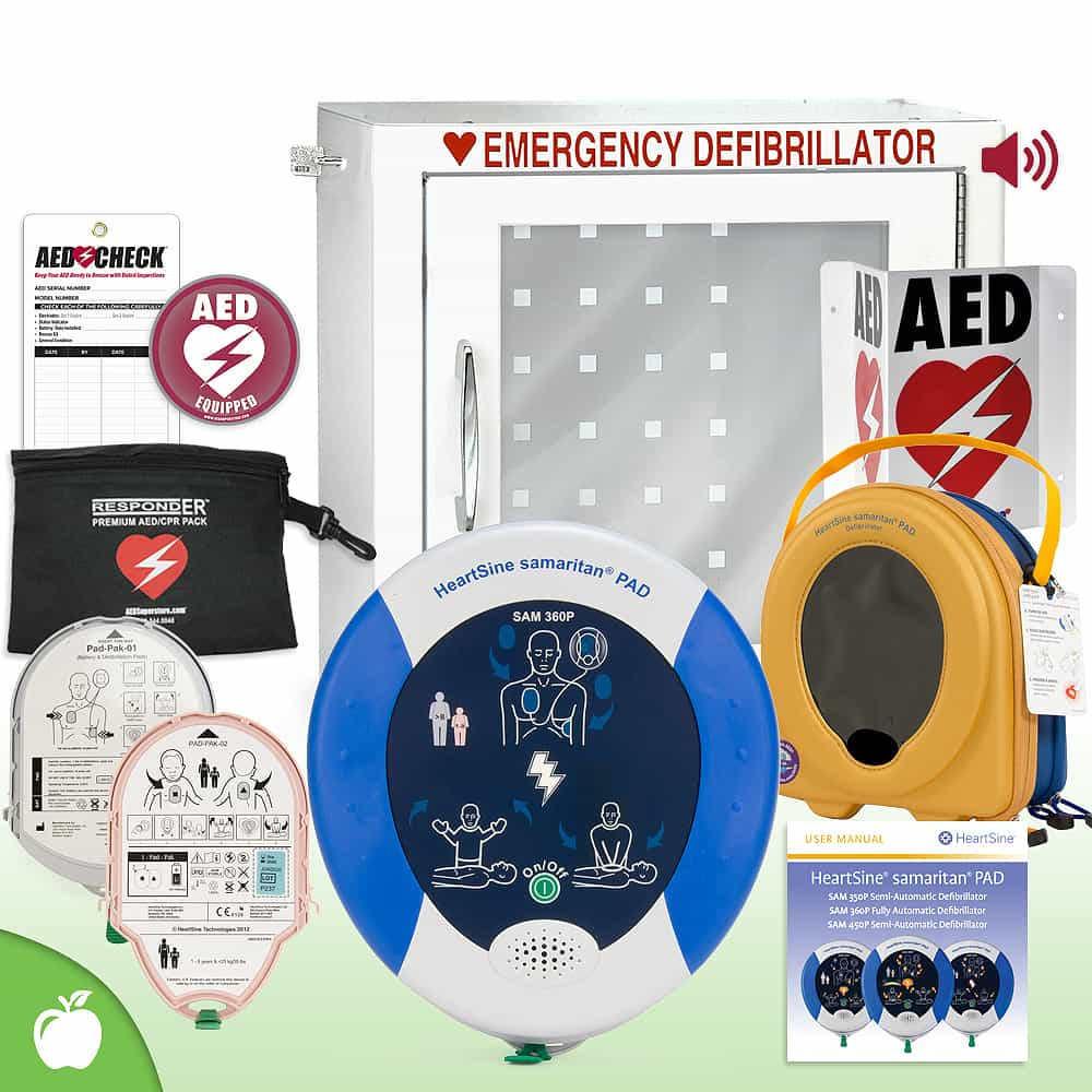 HeartSine Samaritan PAD AED School & Community Value Package Alarm Cabinet