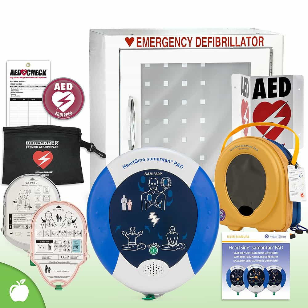 HeartSine Samaritan PAD AED School & Community Value Package Basic Cabinet