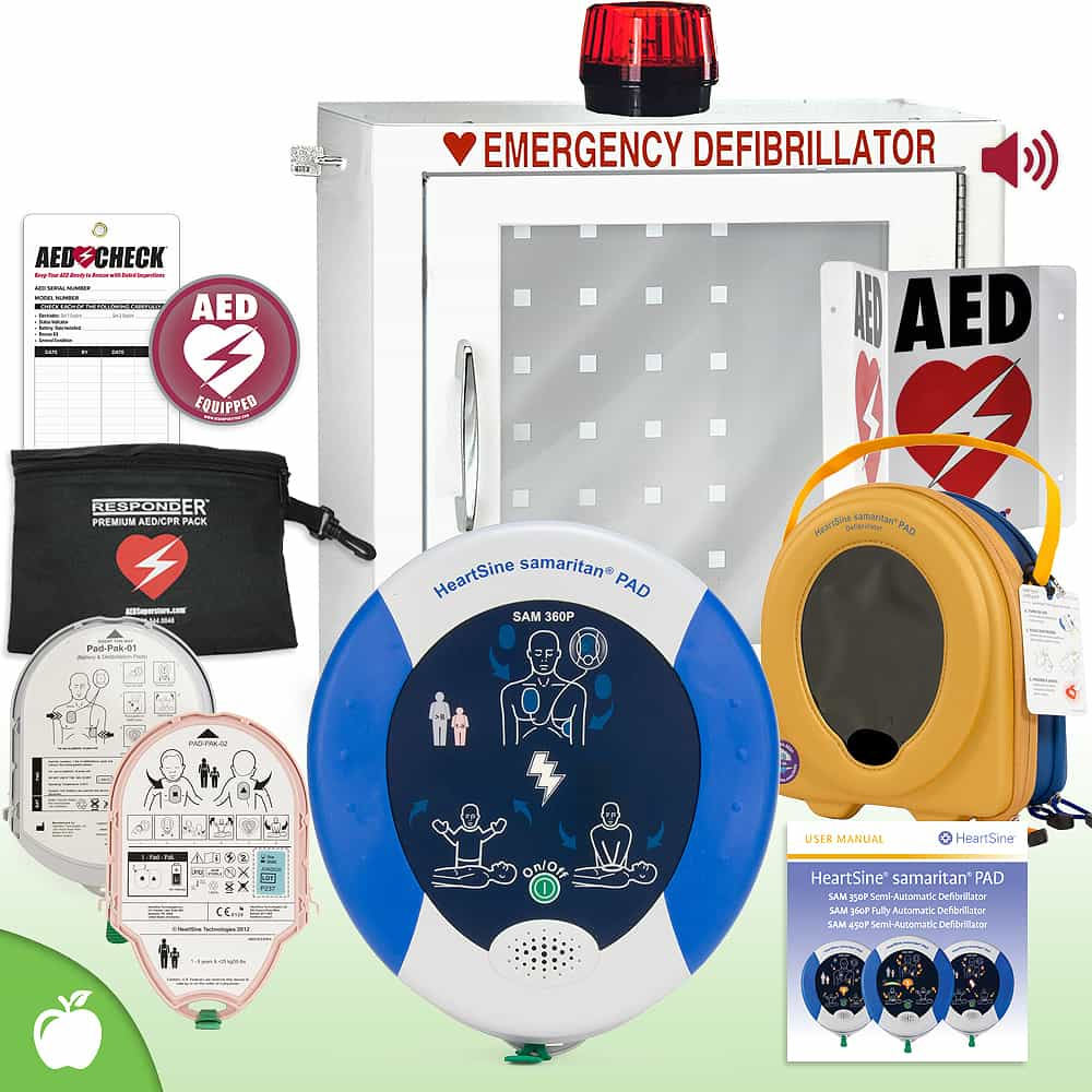 HeartSine Samaritan PAD AED School & Community Value Package Strobe and Alarm Cabinet