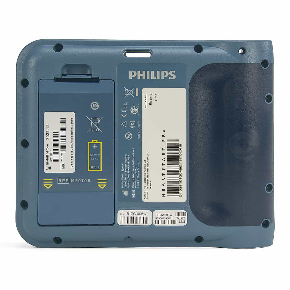 Philips HeartStart FRx AED Back View
