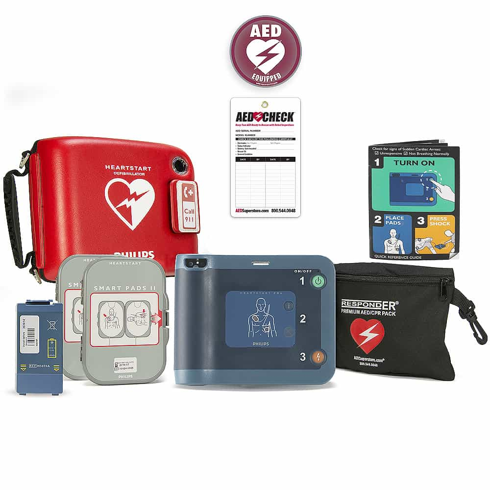 Philips HeartStart FRx AED w/Included Items, Ready-Pack (Spare Pads/Philips Case)
