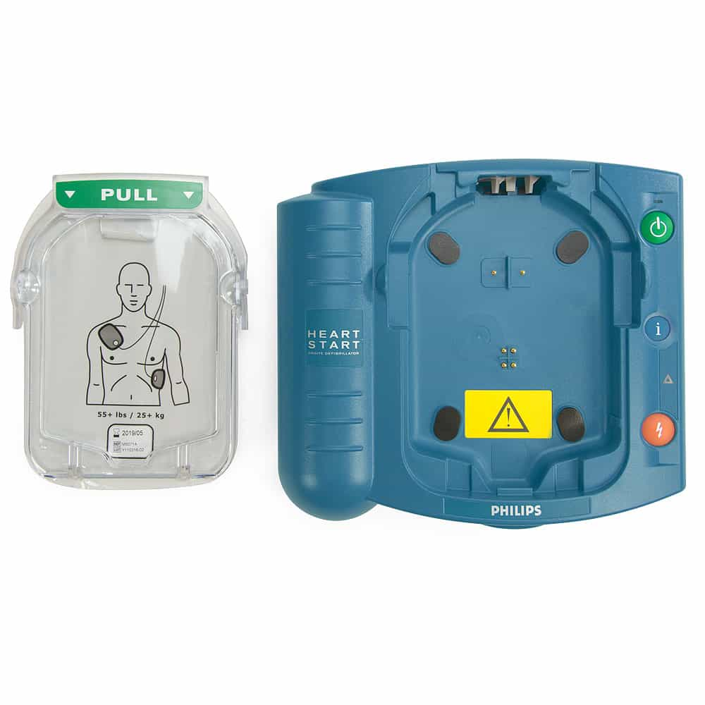 Philips HeartStart OnSite AED w/Adult Electrodes Cartridge Out
