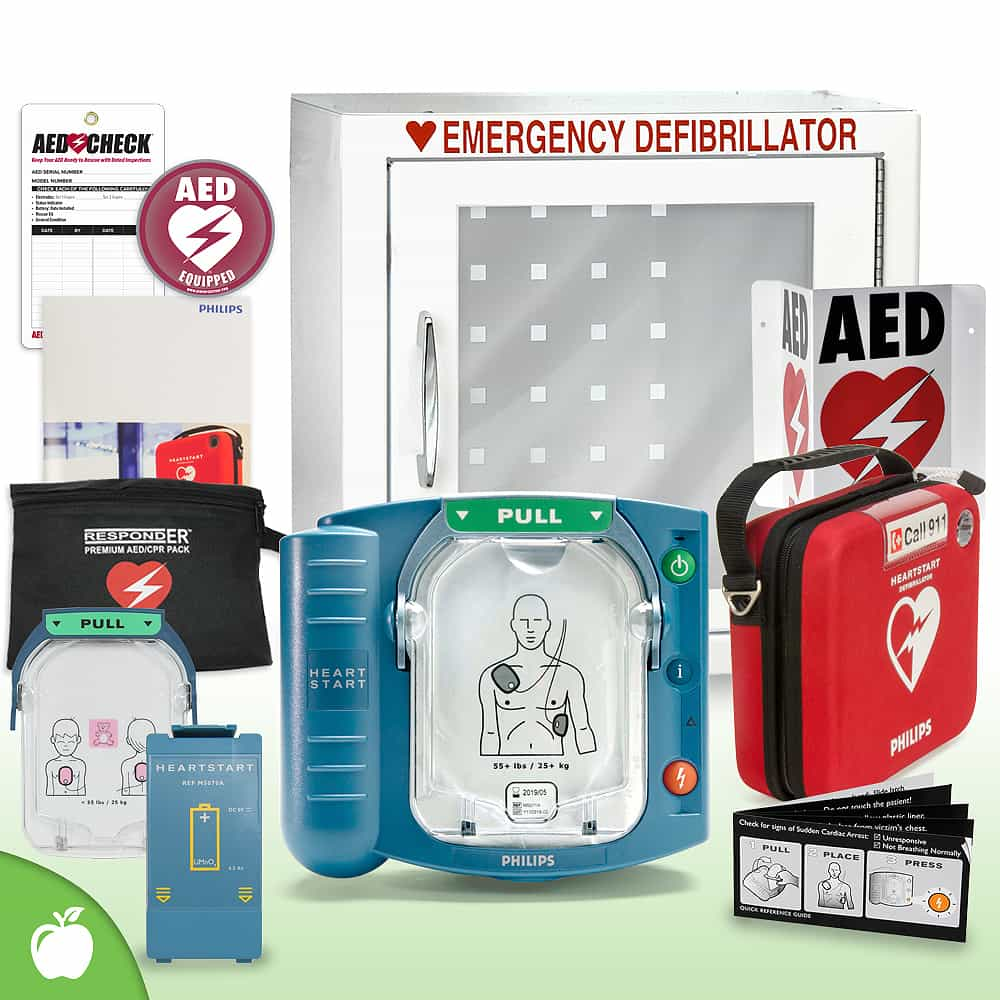 Philips HeartStart OnSite AED School & Community Value Package (Includes RespondER® Premium Items) Basic Cabinet