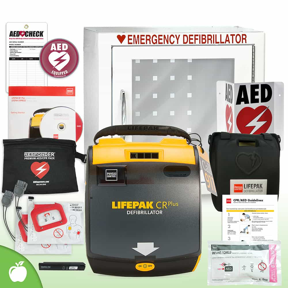 Physio-Control LIFEPAK CR Plus AED School & Community Value Package Basic Cabinet