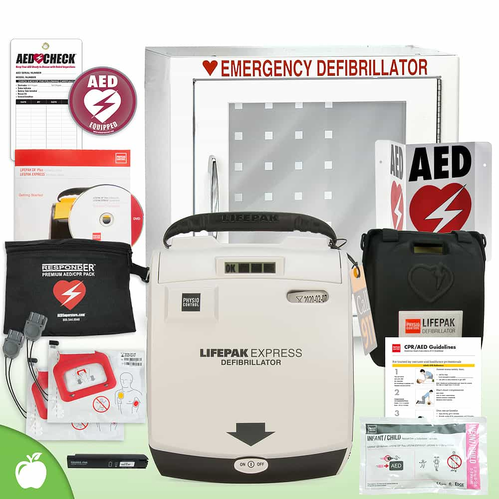 Physio-Control LIFEPAK EXPRESS AED School & Community Value Package Basic Cabinet