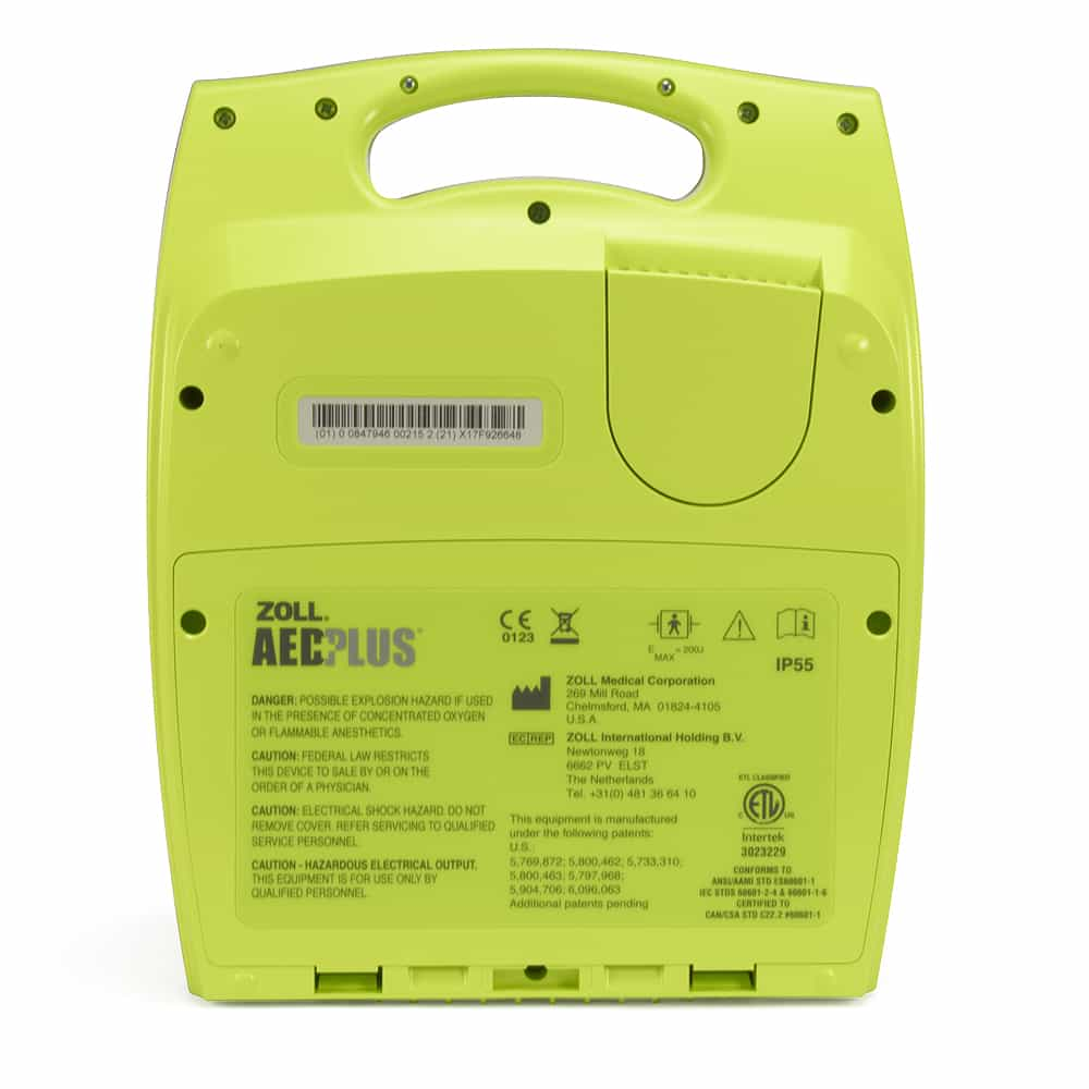 ZOLL AED Plus Back View