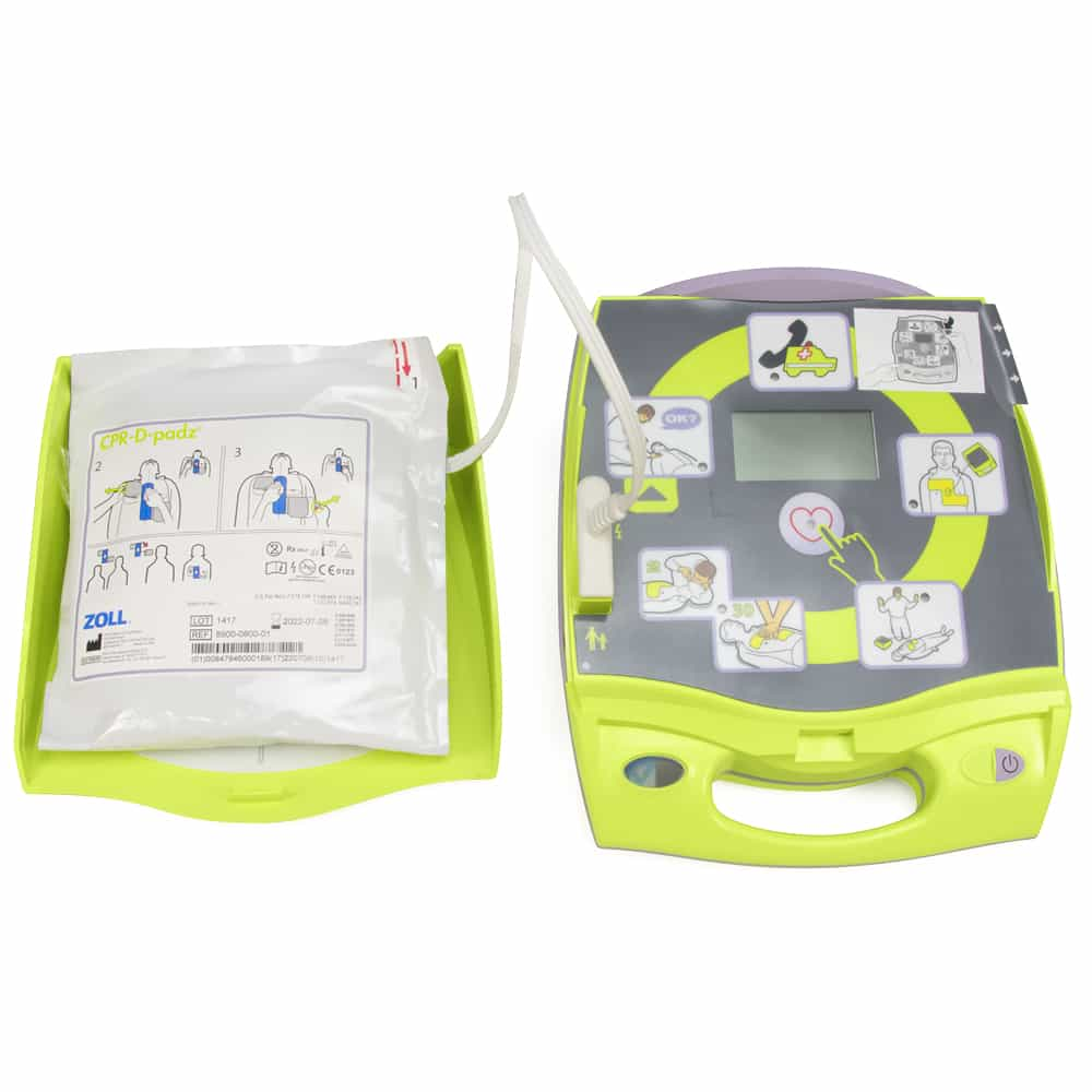 ZOLL AED Plus PASS Cover Open