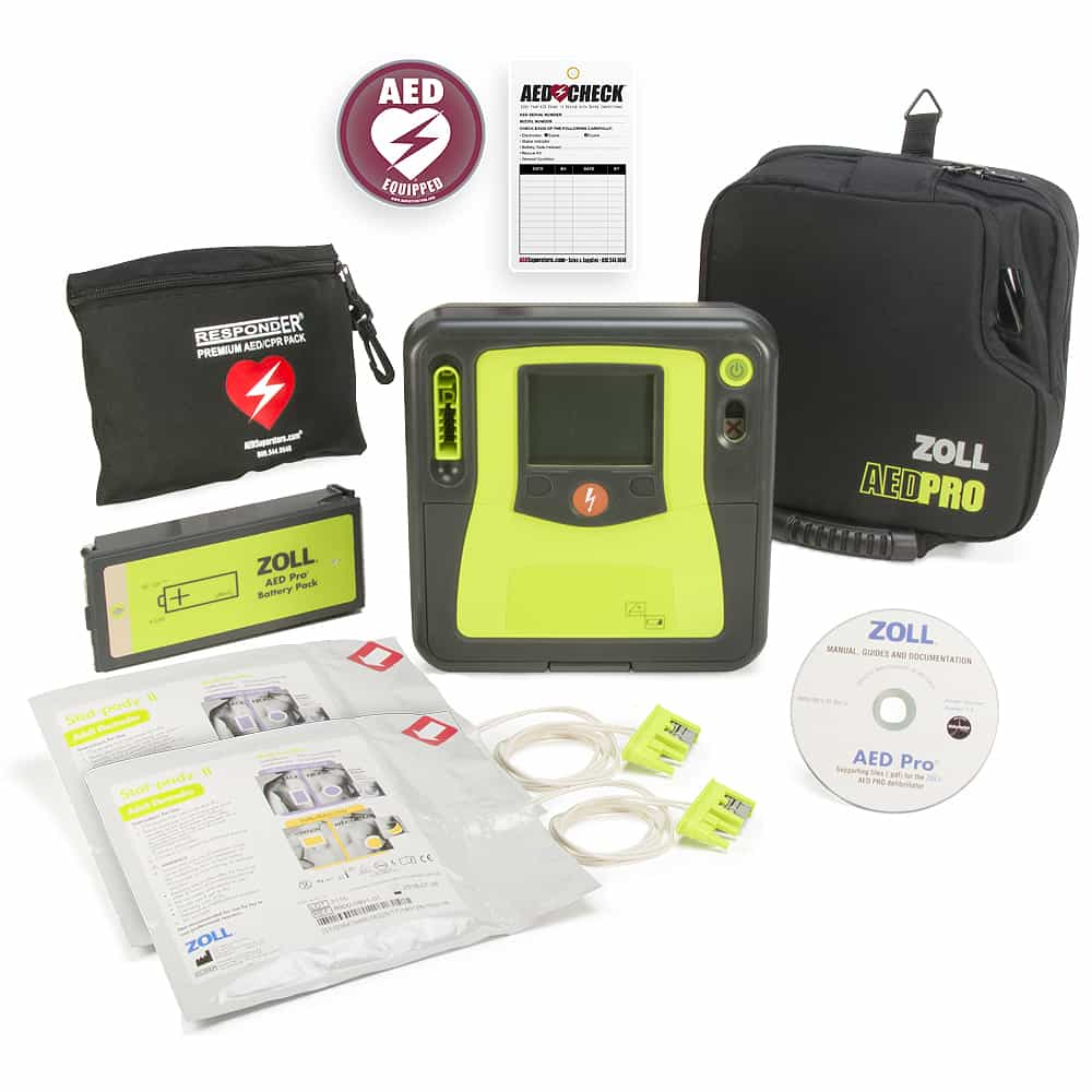 AED PRO, SEMI AUTO W/MNL OVERIDE, NO BATTERY, NO ELECTRODES