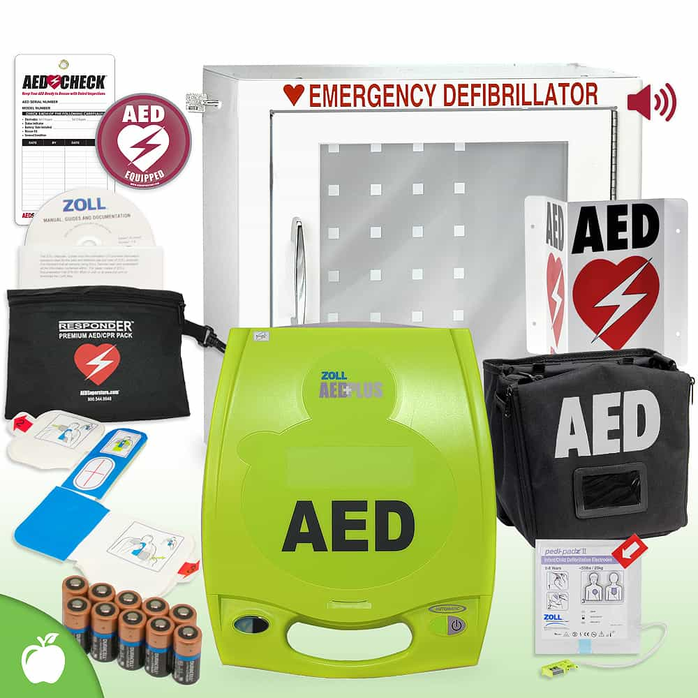 ZOLL AED Plus School & Community Value Package Alarm Cabinet