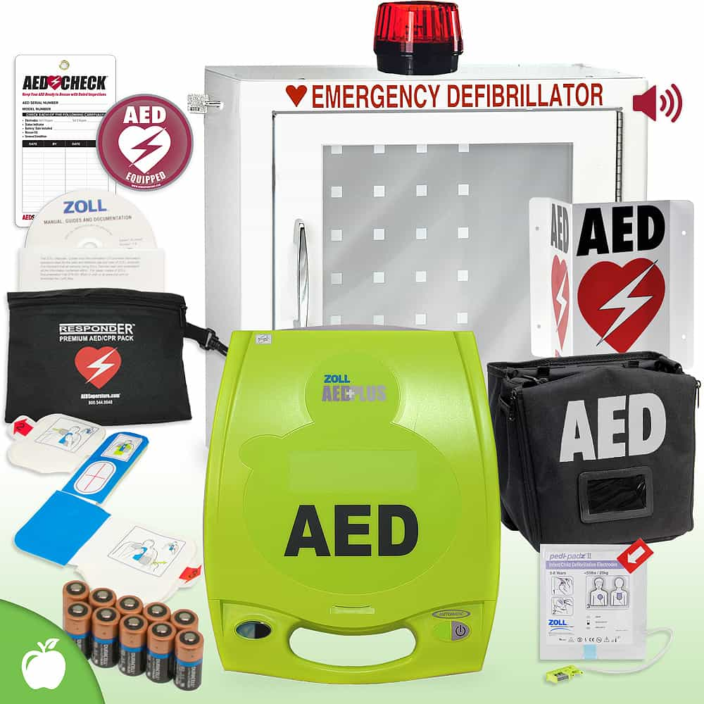 ZOLL AED Plus School & Community Value Package Strobe and Alarm Cabinet