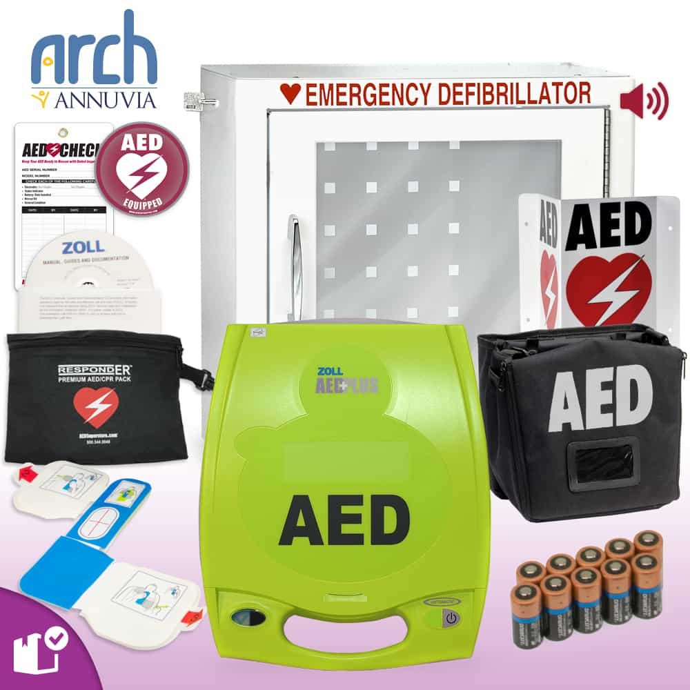 ZOLL AED Plus Complete Value Package Alarm Cabinet