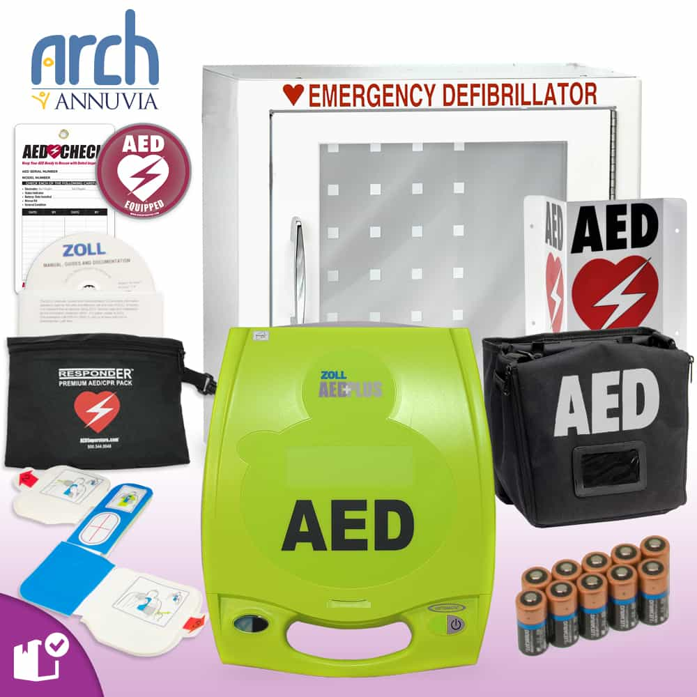 ZOLL AED Plus Complete Value Package Basic Cabinet
