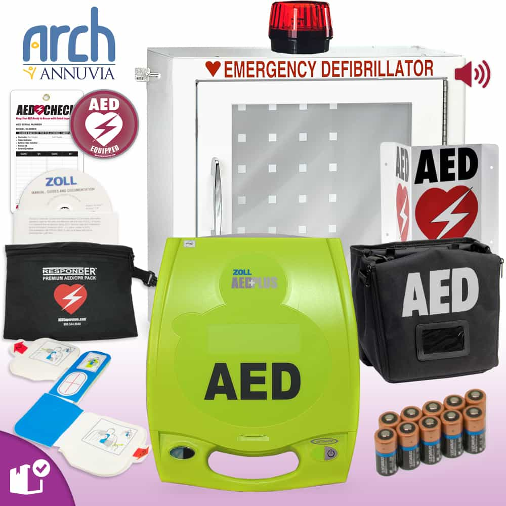 ZOLL AED Plus Complete Value Package Strobe and Alarm Cabinet