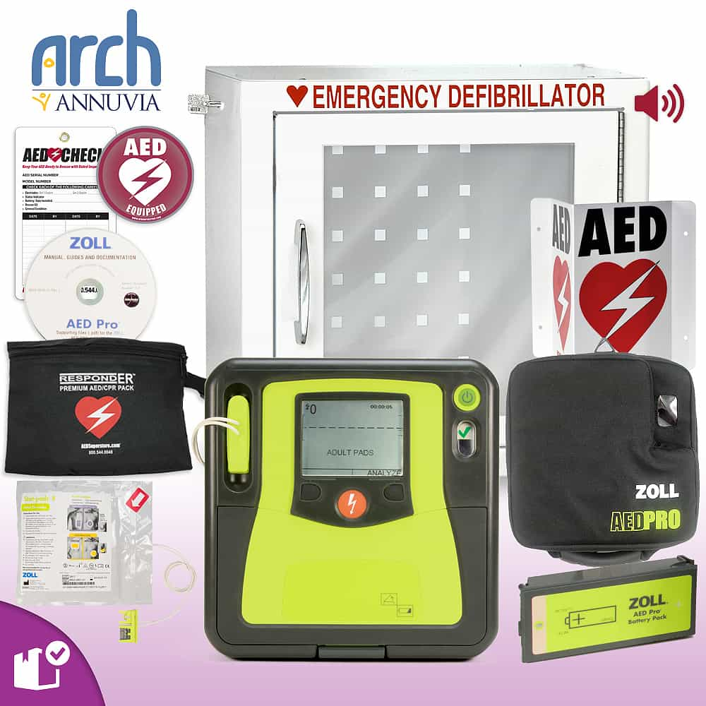 ZOLL AED PRO Complete Value Package Alarm Cabinet