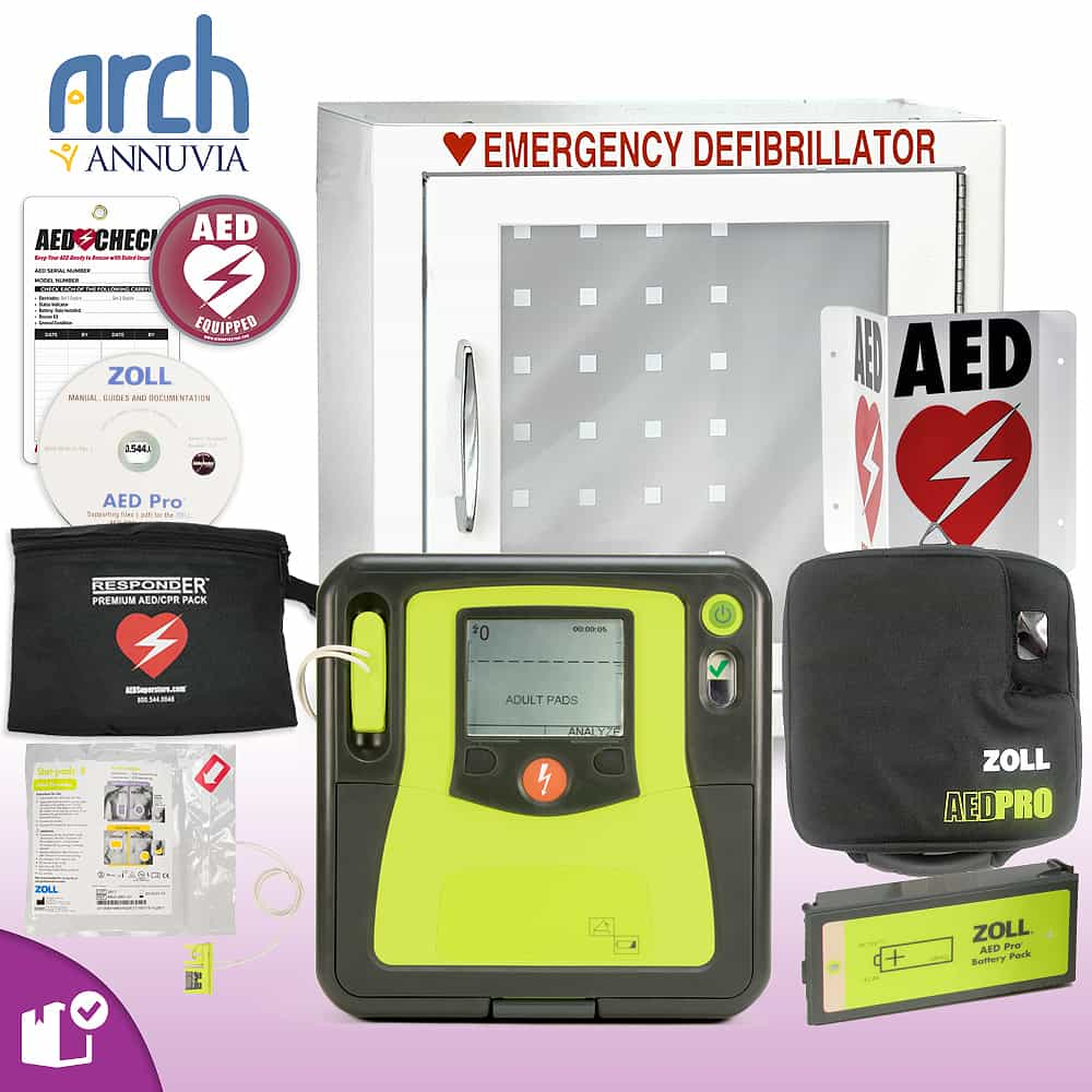 ZOLL AED PRO Complete Value Package Basic Cabinet