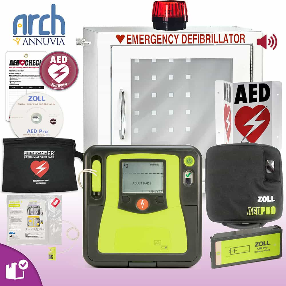 ZOLL AED PRO Complete Value Package Strobe and Alarm Cabinet