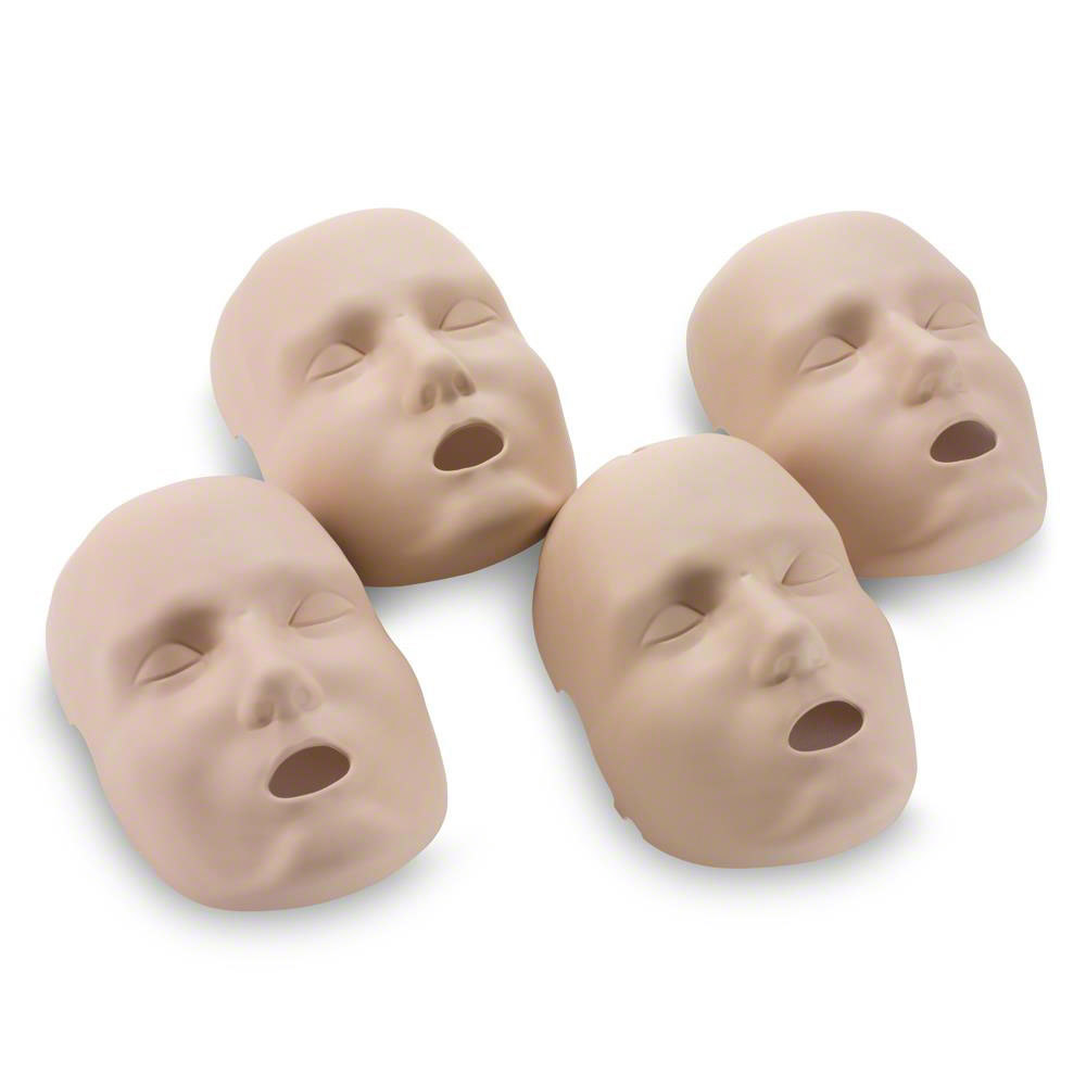 Prestan Replacement Medium Face Skins for the Professional Adult Medium Skin Manikin (4-Pack)