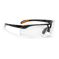 Uvex™ by Honeywell Protégé Safety Glasses, Metallic Black Frame w/Clear HydroShield Anti-Fog Lens
