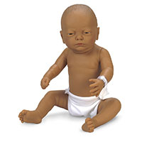 Nasco Newborn Baby Doll - Brown Baby Boy