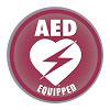 AED Equipped Facility Window/Wall Decal for Resale - 4
