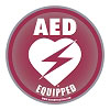 AED Equipped Facility Window/Wall Decal - 4