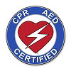 CPR/AED Round Decal - 2.5