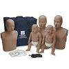 Prestan Manikin Professional Dark Skin Family Pack with CPR Monitor