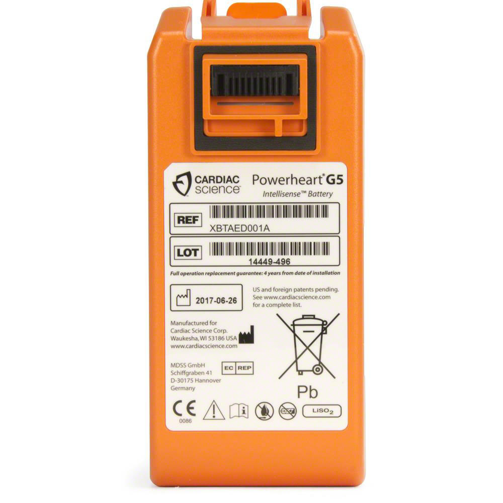 b9ea974eb41 Cardiac Science Powerheart® AED G5 Battery - AED Superstore