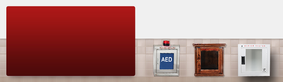 AED Cabinets and signs