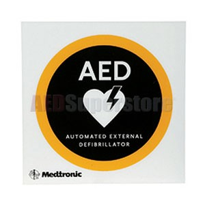 "Physio-Control 8"" x 8"" Flat AED Wall Sign with Logo"