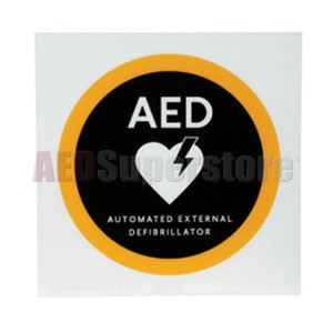 "Physio-Control 8"" x 8"" Flat AED Wall Sign"