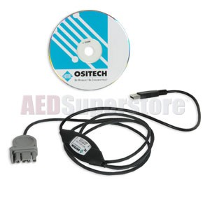 Physio-Control LIFEPAK 500® Data Transfer 'USB to QUIK-COMBO' Cable