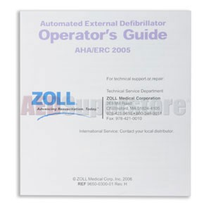 ZOLL® AED Plus® Operator's Guide Poster