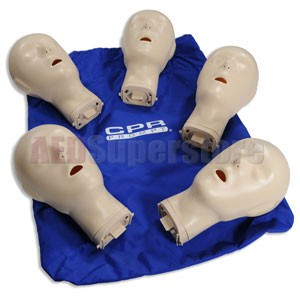 CPR Prompt® Extra Adult/Child Manikin Heads for TAN