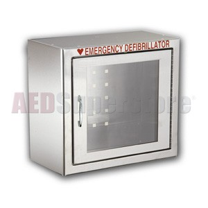 Compact Size Stainless Steel AED Cabinet