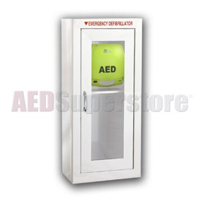ZOLL® AED Plus® Tall Cabinet without Audible Alarm or Strobe Light
