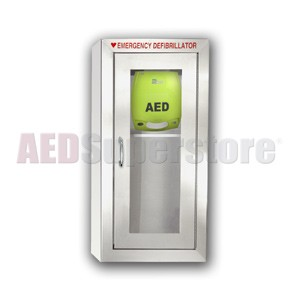 ZOLL® AED Plus® Stainless Tall Cabinet without Audible Alarm or Strobe Light