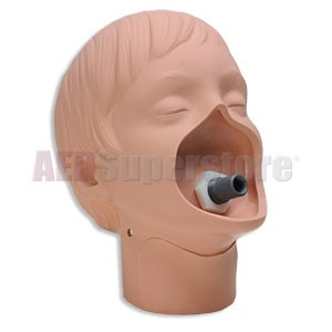 Simulaids Replacement CPR Head (White) for Full-Body Adult CPR Manikin