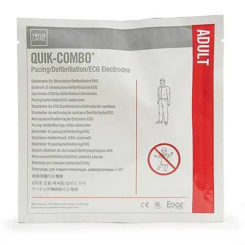 Physio-Control Adult Electrode Pads with QUIK-COMBO (Leads-In)