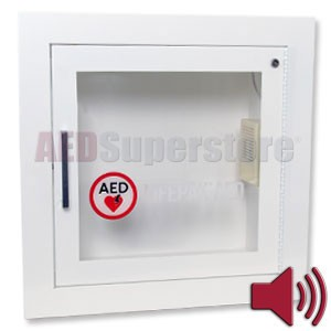 Physio-Control AED Cabinet Recessed with Audible Alarm