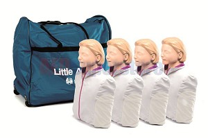 Laerdal Little Anne 4 Pack with Training Mats