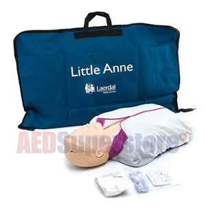 Laerdal AED Little Anne with Soft Pack/Training Mat