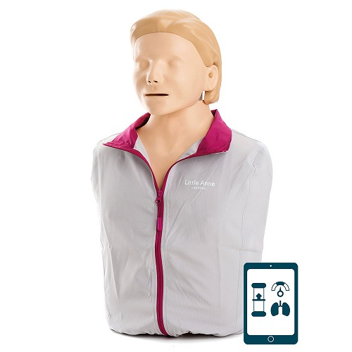 Laerdal Little Anne QCPR with Soft Pack/Training Mat - Light Skin